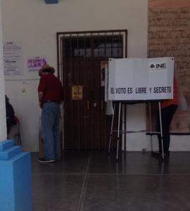 Kurt votando